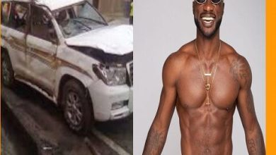 Musician Kwabena Kwabena Involved In A Car Accident (WATCH VIDEO)