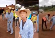 Chinese foreman beats