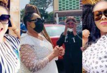 Nana Agradaa jubilating in her husband's car paying GHS36k court fine