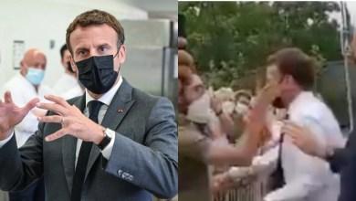 Man slaps French President Emmanuel Macron during visits to southern France