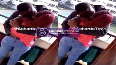 [Video]Legon students caught in action doing it at Hall Balcony
