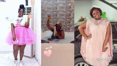 Tracey Boakye sends social media buzzing with video of herself taking a bath