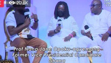 Prof Naana Jane Opoku Agyemang storms T.B Joshua's SCOAN funeral with 'big testimony'