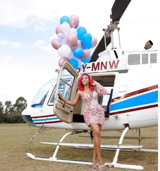 Government Official Hires Helicopter For His Side Chick On Her Birthday [Photo]
