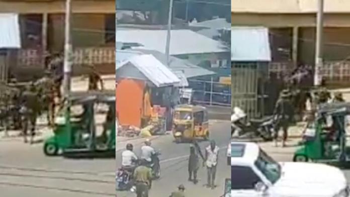 [Video] Days after the Ejura killings, soldiers secretly filmed chasing and beating up civilians in the street of Wa