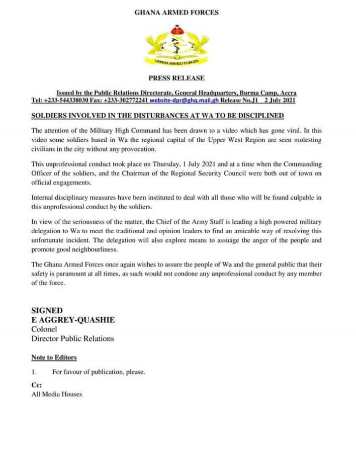 Desecrating Ghana's Republic Day-A Case of military brutality in Wa