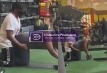 Gym Instructor enjoys the backside of a lady during training section [Video]