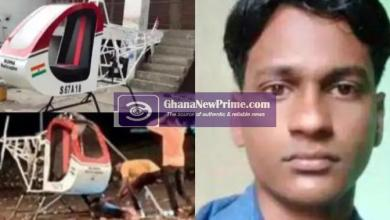 24 years old Innovator dies as he tests his helicopter prototype, rotor blade slashes his neck [Video]