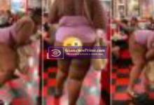 Sad: Heavy backside lady was saked from restaurant for doing this [Video]
