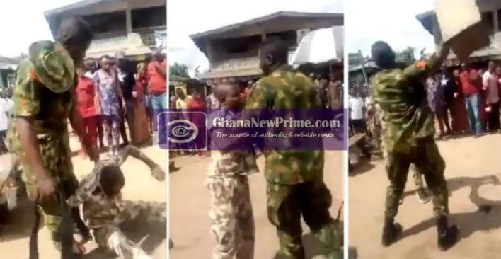Soldier disciplines civilian for wearing military uniform [Video]