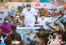Mahama storms Ashanti, Bono East, others on 'Thank You' tour