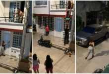 Side chick run for her life after wife of the man she was with came knocking [Video]