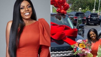 Photo of Finally! Name of the person who gave Nana Aba Anamoah Range Rover Gift Pops out