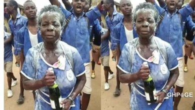 Photo of 60-year-old mother of four celebrates after completing her BECE exams