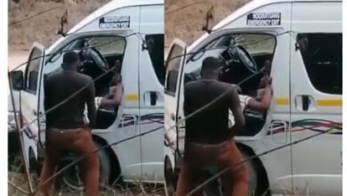 Photo of Driver Caught Having Sekz With A Lady By The Road Side (Video)