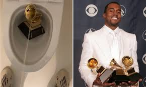 Photo of Watch Kanye West urinating on a Grammy Award (Video)