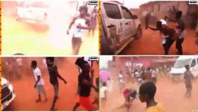 Photo of Video: NPP Campaign team chased with brooms (Watch)