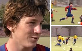 Photo of UNSEEN FOOTAGE: Young Messi first words at Barça 2001 (Watch)