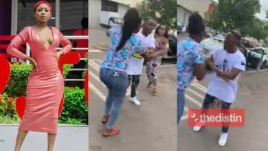 Photo of Video: Akuapem Poloo publicly embarrassed for snatching someone's husband(Watch)