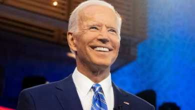 "Photo of Democrat Joe Biden ""trumps"" his way to victory as the 46th President of the USA"