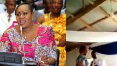 Photo of Video: Pastor embarrasses NPP's Hawa Koomson after she donated to his church, shouts '3y3 Zu'