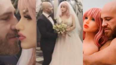 Photo of Video: Man happily marries sekz toy (Watch)