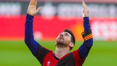 Photo of Barcelona face fine after Lionel Messi's tribute to Diego Maradona