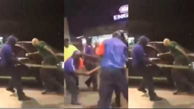 Photo of Video: White man flogged after he called black fuel attendants 'monkeys' (Watch)