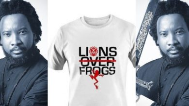 "Photo of Sonnie Badu launches his ""Lion over frogs"" T-shirt – Check out price"