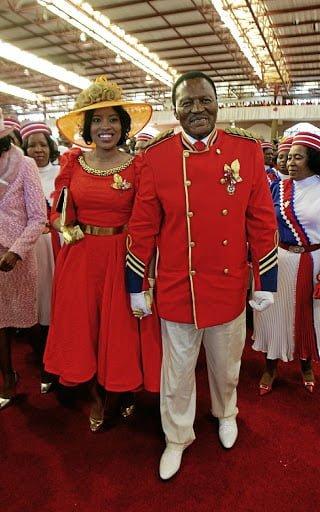 The comforter Glayton Modise and his wife Mamohau Modise