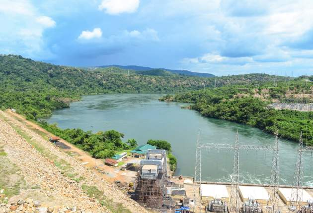 View from Akosombo Dam in Eastern Region