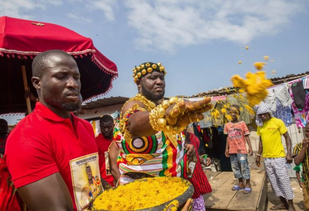 Homowo Festival celebrated by the people of Ga in the Greater Accra Region of Ghana. Image / phmuseum.com