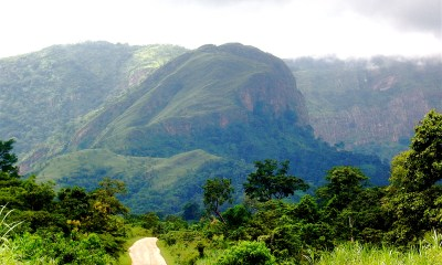 Mountain view At the border of Ghana and Togo