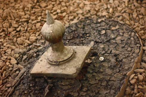 The 'immovable' Sword pushed into the ground by Okomfo Anokye about 300 years ago. It is believed that Okomfo Anokye pronounced that no man would be able to remove the sword from the ground
