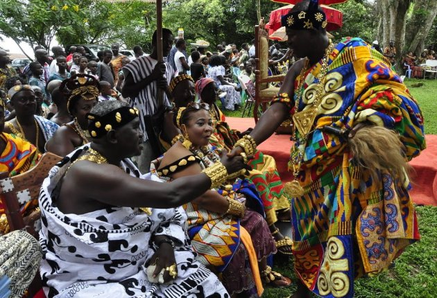 Odwira Festival, celebrated by the chiefs and peoples of Fanteakwa District in the Eastern Region of Ghana