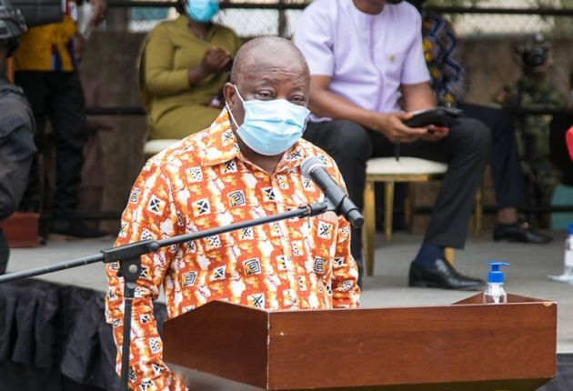 Health Minister, Kwaku Agyemang Manu. Sod-cutting of 400-Bed maternity block at Korle-Bu. Image / facebook.com/nakufoaddo
