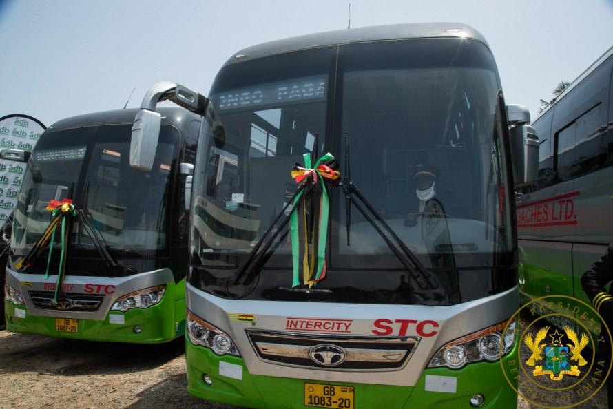 President Akufo-Addo donates 100 buses to STC