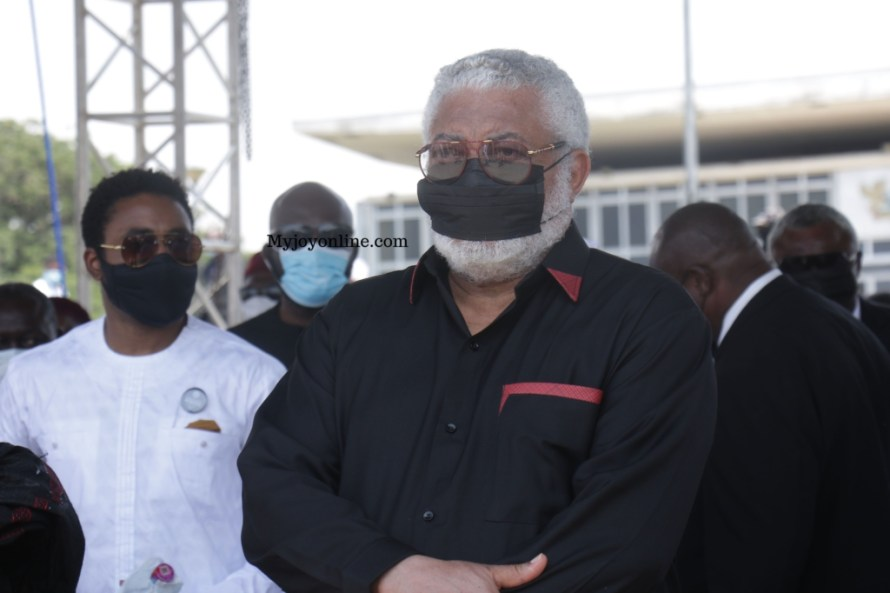 Burial service of J.J Rawlings mother. Image / myjoyonline.com
