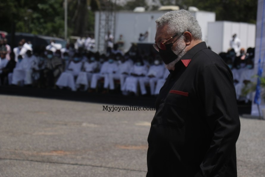 burial service of J.J Rawlings mother