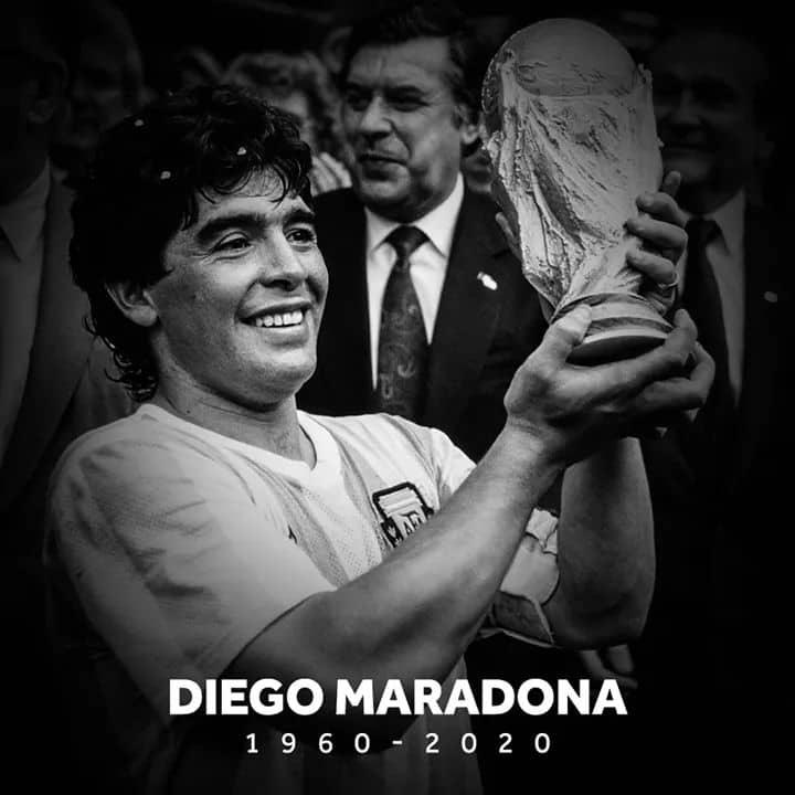 Diego Armando Maradona dead