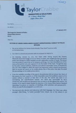 Umaru Sanda petition