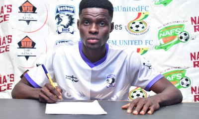PHOTOS: Bechem United complete the signing of defender Francis Acquah