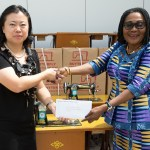 Chinese Ambassador to Ghana donates to First Lady