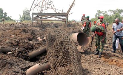 Scene of the pipeline bombings