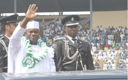 Governor Yahaya Bello of Kogi State during the Swearing-in on Wednesday, January 27, 2016.