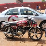 GHAMRO presents car & motorbike to office in Ashanti Reg.