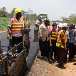 President Mahama Inspects Eastern Corridor Road Project -PICTURES