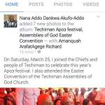 Nana Addo Goofs On Good Friday -Picture