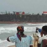 'Mystery' Ship washed ashore coast of Aflao