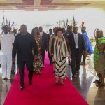 Liberia's President Johnson-Sirleaf Arrives In Ghana